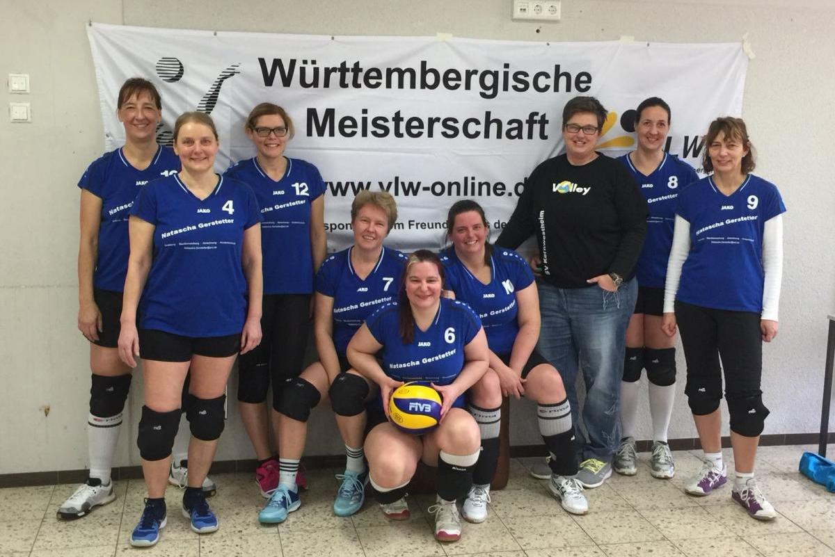Seniorinnen 2018 SV Salamander Kornwestheim Volleyball