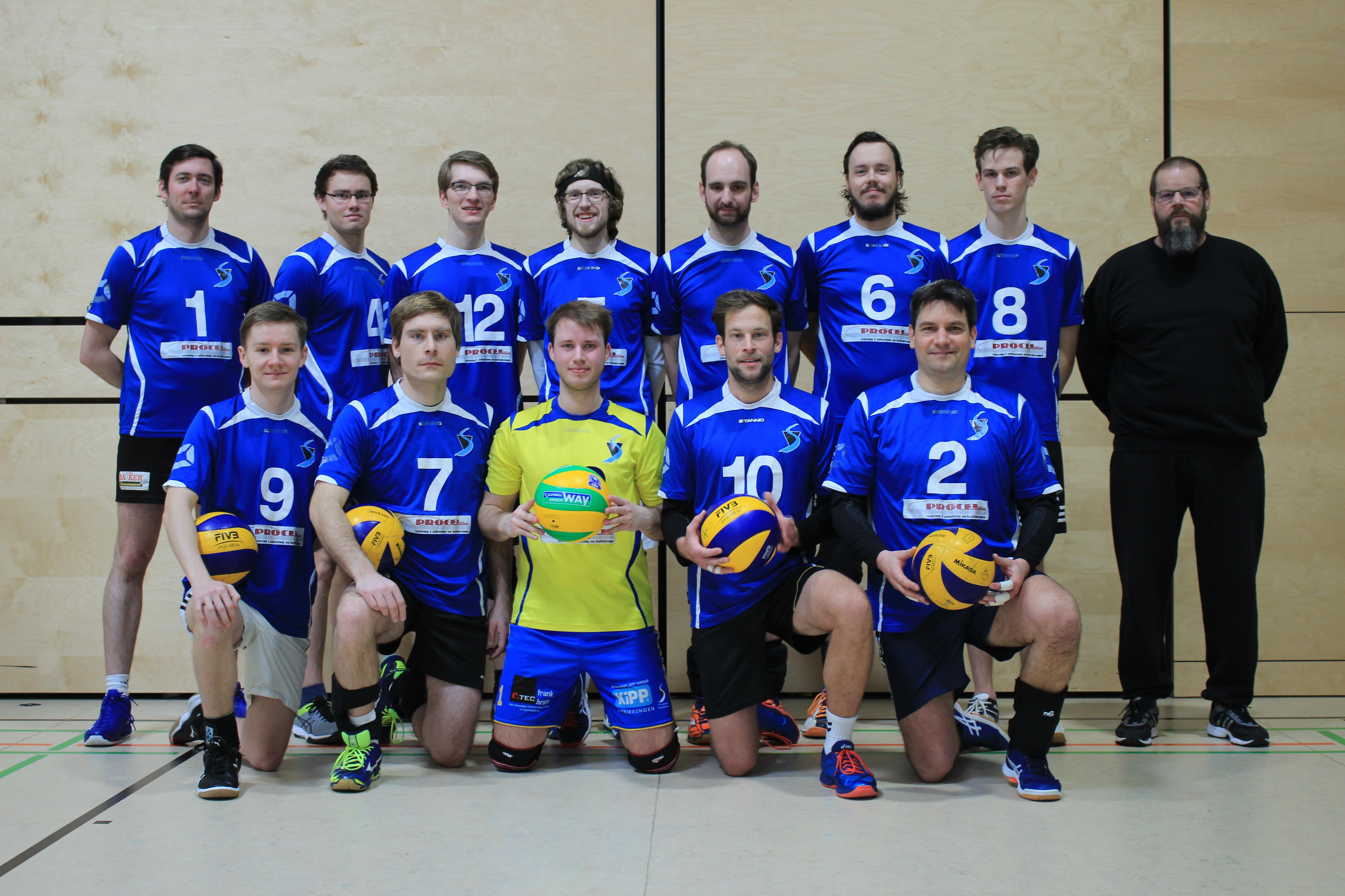 Mannschaftsfoto Herren 2 SV Salamander Kornwestheim Volleyball Heimspieltag 1602